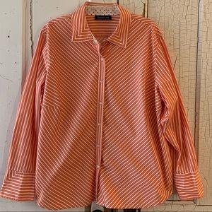 Jones New York striped cotton blouse Size 3X